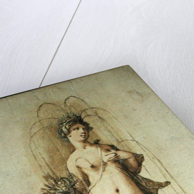 Design for a fountain with a figure of Abundance by Hendrik Goltzius