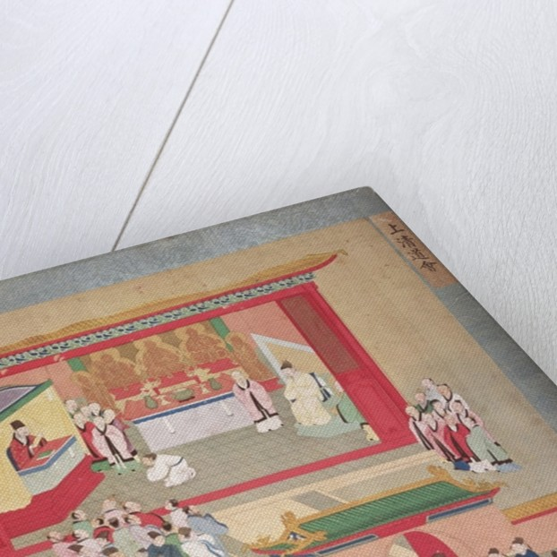 Emperor Hui Tsung practising with the Buddhist sect Tao-See by Chinese School