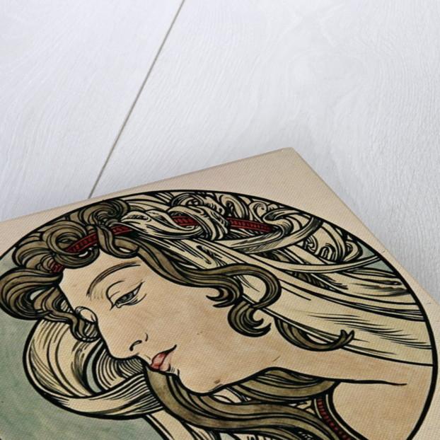 Head of a Woman by Alphonse Marie Mucha