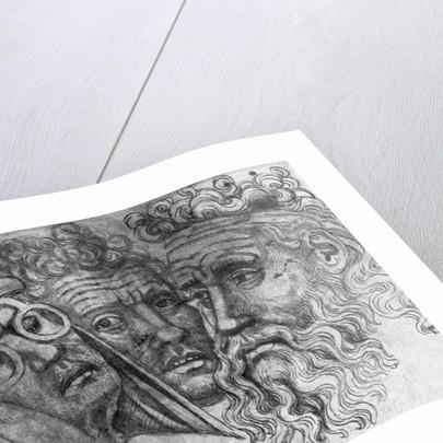 Heads of three men by Antonio Pisanello