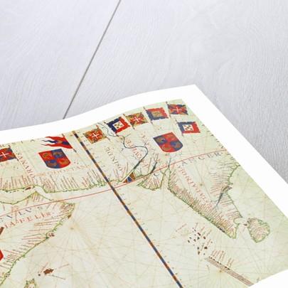 Fol.16 Map of Persia, Arabia and India by Fernao Vaz Dourado