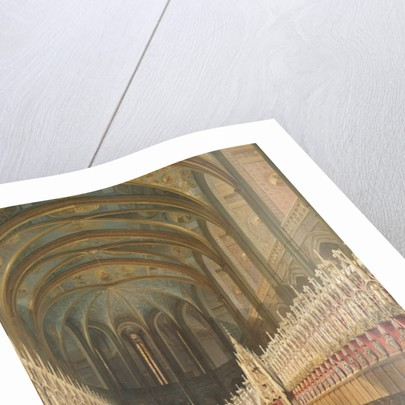 Interior of Albi Cathedral by Adrien Dauzats