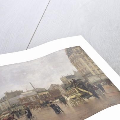 La Place Clichy, Paris by Edmond Georges Grandjean