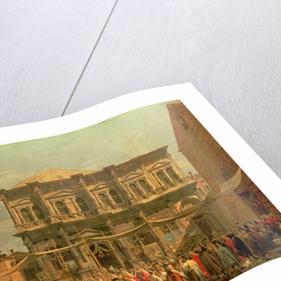 The Doge Visiting the Church and Scuola di San Rocco by Canaletto
