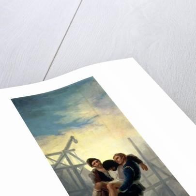 The Injured Mason by Francisco Jose de Goya y Lucientes