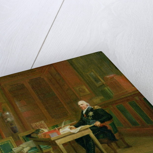 Louis XVIII in his Study at the Tuileries by Francois Pascal Simon