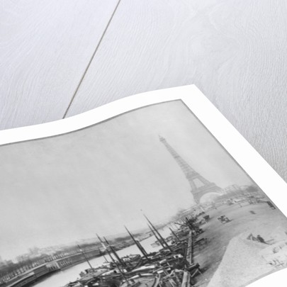 View of the banks of the Seine and the Eiffel Tower, Paris by French Photographer