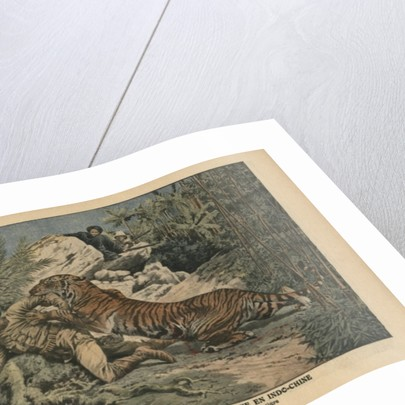 Marquis of Barthelemy wounded by a tiger by French School