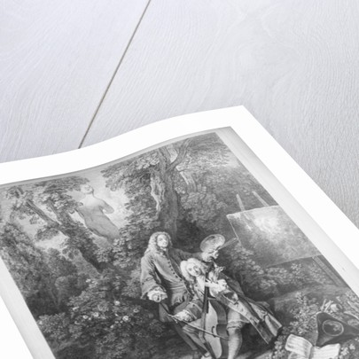 Jean Antoine Watteau and his friend Monsieur de Julienne by Jean Antoine Watteau