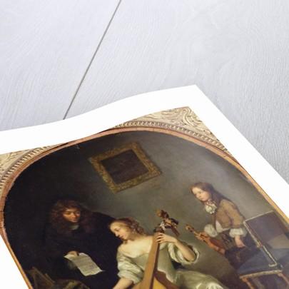 The Bass Viol Lesson by Caspar Netscher
