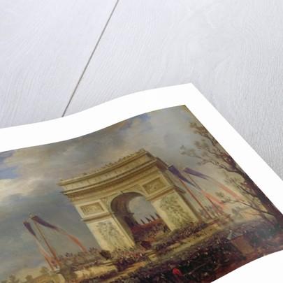 Fete de la Fraternite at the Arc de Triomphe, Place de l'Etoile, Paris om by Hippolyte Victor Valentin Sebron