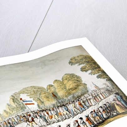 Revolutionary procession by Etienne Bericourt