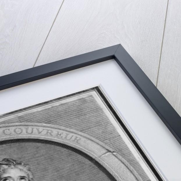 Adrienne Lecouvreur engraved by Pierre Drevet by Charles Antoine Coypel