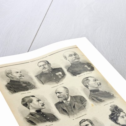 The Zola Affair: portraits of the main witnesses by French School