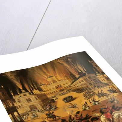 Fire, detail of fireworks by Claude Deruet