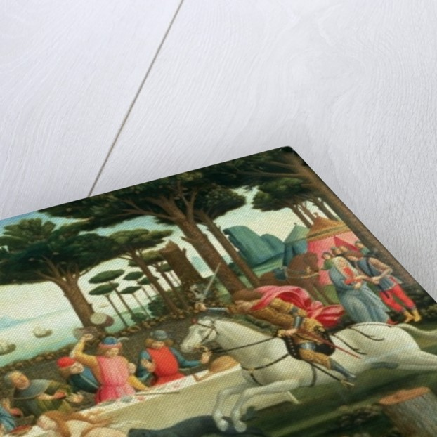 The Banquet in the Pinewoods: Scene III of The Story of Nastagio degli Onesti by Sandro Botticelli