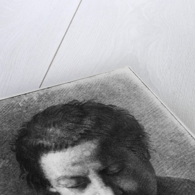 Head of a young man looking down by Nicolas-Bernard Lepicie