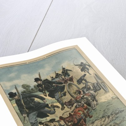 In the Belgian army, machine guns pulled by dogs by French School