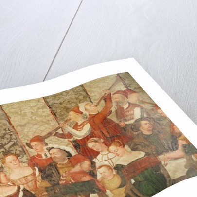 Guests at the Banquet Given by Bartolomeo Colleoni for King Christian I of Denmark at the Castle of Malpaga in 1474 by Girolamo Romanino