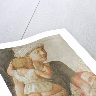 Detail of the woman and child by Tommaso Masaccio