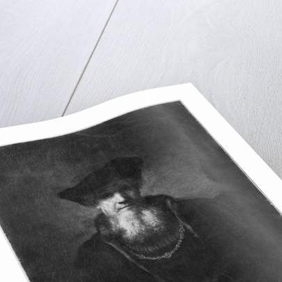 Portrait of a rabbi by Rembrandt Harmensz. van Rijn
