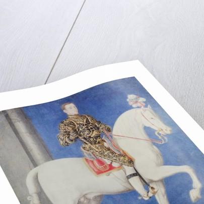 Equestrian Portrait Presumed to be Dauphin Henri II by Francois Clouet