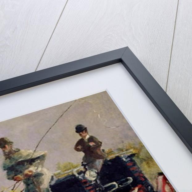 Alphonse de Toulouse-Lautrec-Monfa Driving his Mail-Coach in Nice by Henri de Toulouse-Lautrec