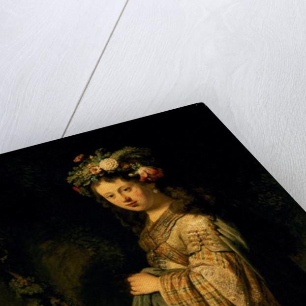 Saskia as Flora by Rembrandt Harmensz. van Rijn