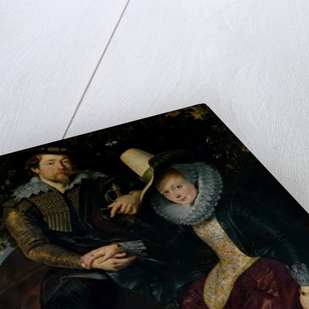 Self portrait with Isabella Brandt, his first wife, in the honeysuckle bower by Peter Paul Rubens