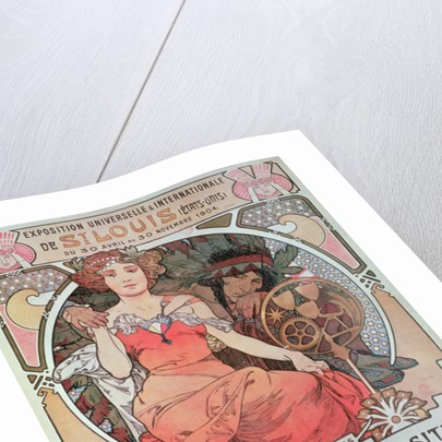 A Poster for the World Fair, St. Louis, United States by Alphonse Marie Mucha
