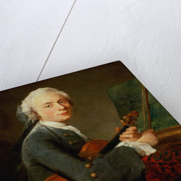 Young Man with a Violin, or Portrait of Charles Theodose Godefroy by Jean-Baptiste Simeon Chardin