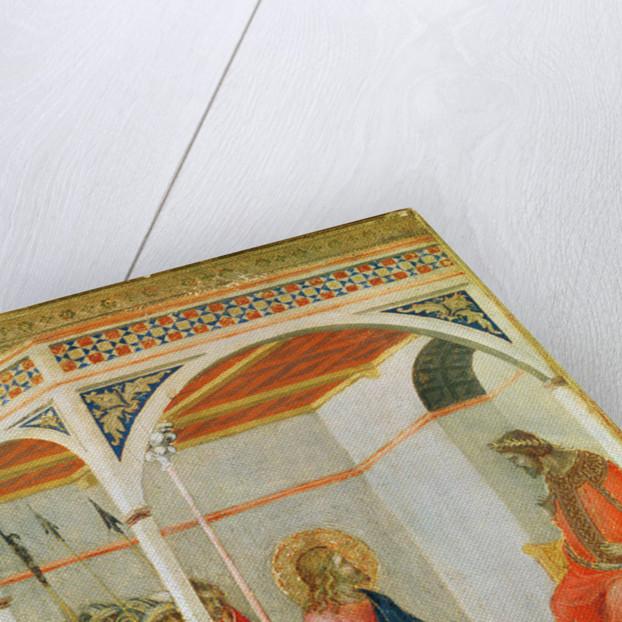 Christ before Pontius Pilate by Pietro Lorenzetti