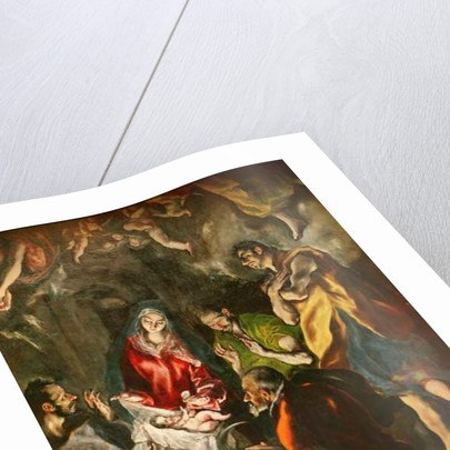 The Adoration of the Shepherds (detail of the shepherds grouped around the child) by El Greco