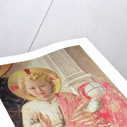 Madonna of the Shadow or Virgin and Child between Saint Dominic, Cosmas, Damien, Mark, John the Evangelist, Thomas of Aquinas, Laurence and Pierre the martyr by Fra Angelico