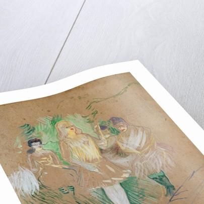 Three Figures at the Folies-Bergères by Henri de Toulouse-Lautrec