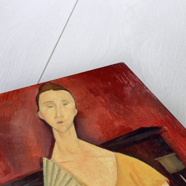 Woman with a Fan (Lunia Czechowska) by Amedeo Modigliani