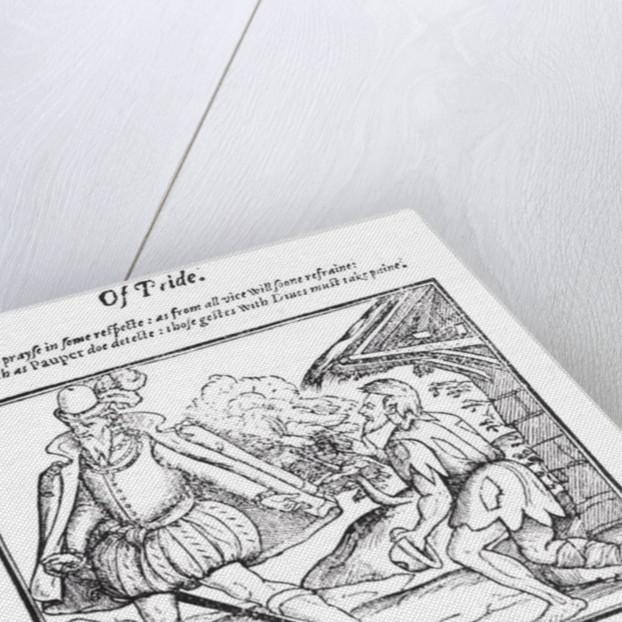A Rich Man Spurns a Ragged Beggar by English School