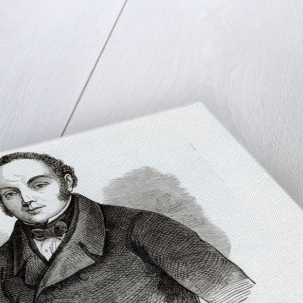 Portrait of Feargus O'Connor Irish Chartist leader by Irish School