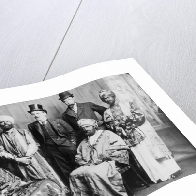 The Emperor of Abyssinia and his Court by English Photographer