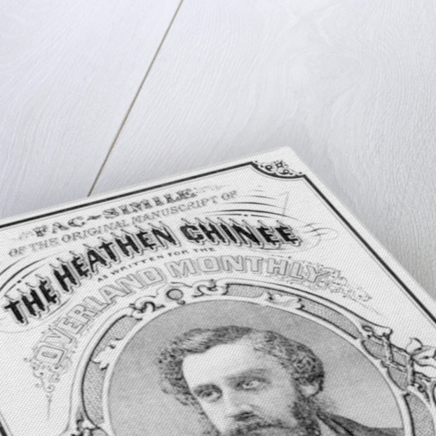 Facsimile of the original manuscript of 'The Heathen Chinee' by Francis Bret Harte by American School