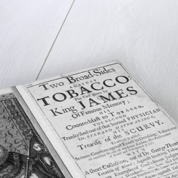 Frontispiece to 'Two Broadsides Against Tobacco' by English School