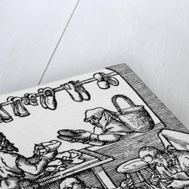 The Shoe Maker by German School