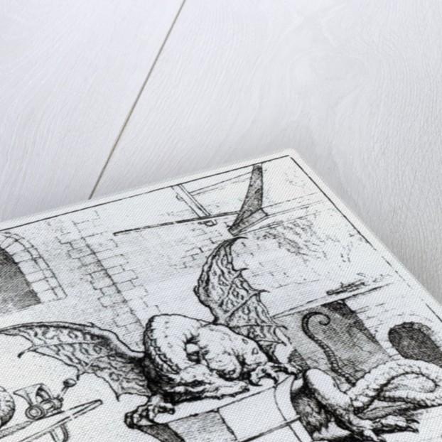 A Dragon in a Workshop by English School