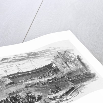 Launch of 'La Hogue,' the Largest Ship ever built in Sunderland by English School
