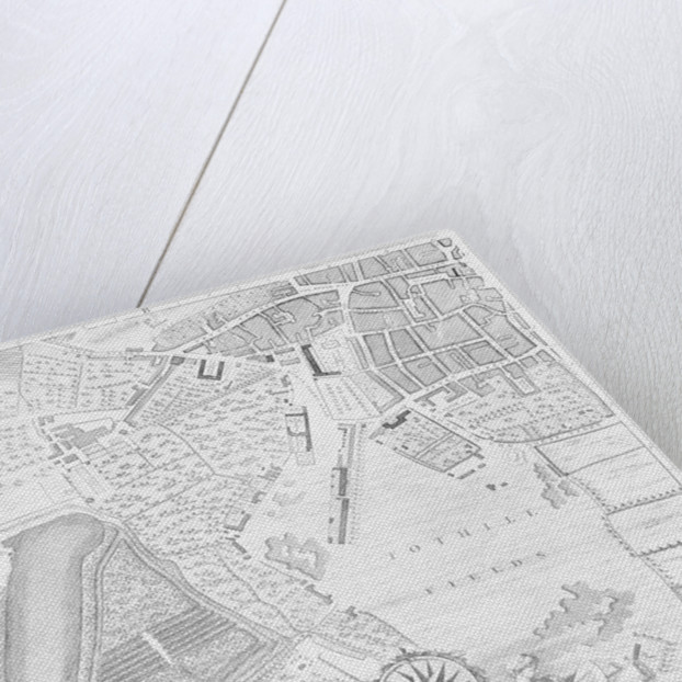 A Map of Tothill Fields, London by John Rocque