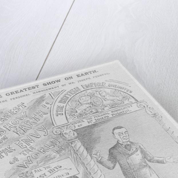 Caricature of Joseph Chamberlain as Colonial Secretary by English School