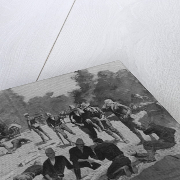 Field Hospital at 'The Bloody Ford' of San Juan Creek by Frederic Remington