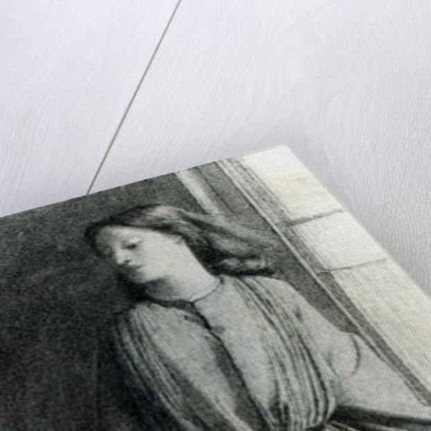 Elizabeth Siddal, May 1854 by Dante Gabriel Charles Rossetti