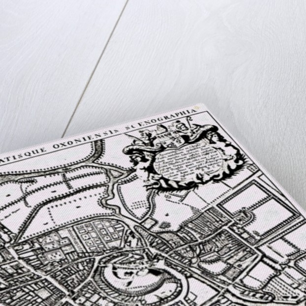 Loggan's map of Oxford, Western Sheet by David Loggan