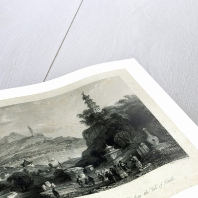 Lake See-Hoo and the Temple of the Thundering Winds by Thomas Allom